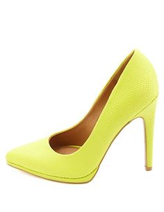 Qupid Python Textured Pointed Toe Pumps: Charlotte Russe