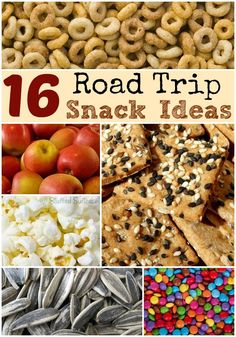 16 Road Trip Snack Ideas - pack these for your next roadtrip vacation Road Trip With Kids, Family Road Trips, Travel With Kids, Family Travel, Family Vacations, Travel Snacks, Travel Activities, Car Snacks, Road Trip Essen