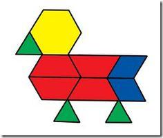 Pattern block animal templates
