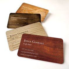 Business card or calling card by offset printing wood by hellocard, $35.00