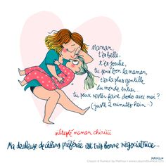Mathou fait son Crayon d'Humeur French Illustration, Cute Illustration, My Past Life, James Brown, Mothers Love, Mother And Child, What Is Life About, Pregnancy Photos, Family Life