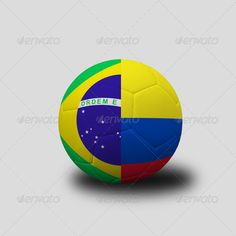 soccer ...  3d, background, ball, brasil, brazil, championship, colomnia, competition, country, eight, final, football, game, gray, grey, nation, national, quater, round, soccer, symbol, team, three-dimensional, vs