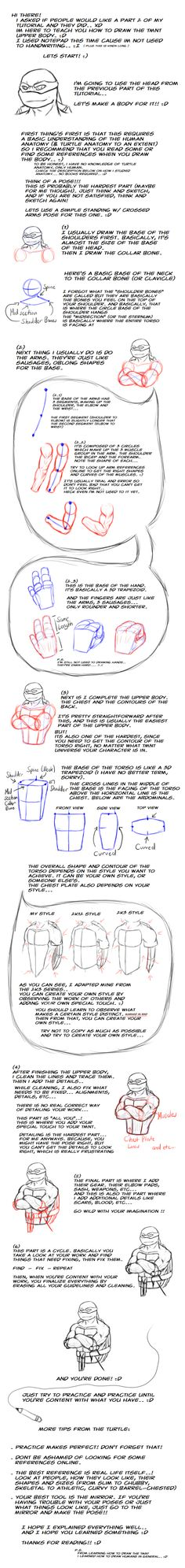TMNT - How to Draw: Upper Body by ~XeNiM666 on deviantART
