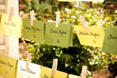 Wedding, Reception, Green, Yellow, Placecards, Perfect planning events, Perfect planning