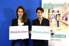 La journaliste Melissa Theriau et la ministre de l'éducation, Najat Vallaud-Belkacem luttent contre le harcèlement à l'école.