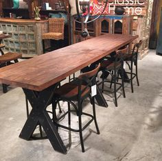 """Rustic Reclaimed Wood Gathering Table 118"""" - Free Shipping"""