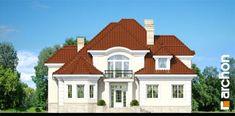Projekt domu Rezydencja w Myślenicach 2 - ARCHON+ Classic House Design, Duplex House Design, House Front Design, Modern House Design, 3d House Plans, Dream House Plans, Modern House Plans, Bungalow Style House, House Design Pictures