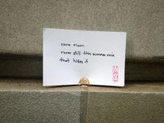 """#haiku 20130623 """"rare moon / rarer still this summer rain / that hides it"""" #micropoetry"""