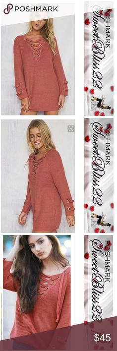 Spotted while shopping on Poshmark: 💎Marsalis Lace Up Sweater💎! #poshmark #fashion #shopping #style #Sweaters