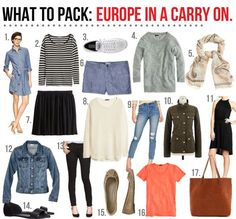 what to pack: Europe in a carry on! | The Good Life For Less | Bloglovin'