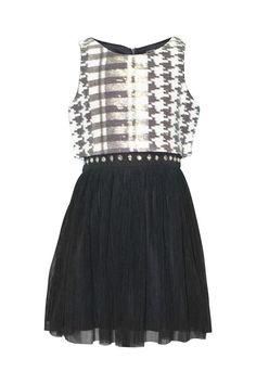 My Michelle Big Girls' Sequin Motif Popover Mesh Party Dress | eBay