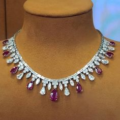 Shreve Crump and Low. A ruby diamond necklace.