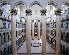 National Building Museum in DC, designed in 1887 by Montgomery C. Meigs