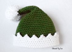 Little Helper Crochet Elf Hat Free pattern by: Janaya Chouinard from charmedbyewe.com  Via AllFreeCrochet.com