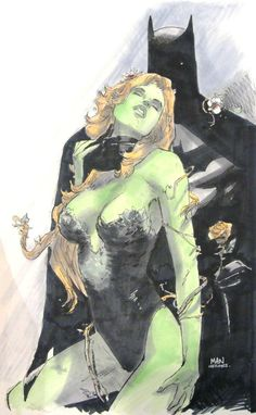 Poison Ivy and Batman by Clay Mann