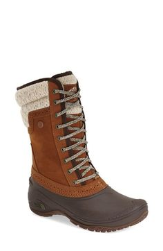Free shipping and returns on The North Face 'Shellista' Waterproof Insulated Snow Boot (Women) at Nordstrom.com. A fleece-lined, waterproof boot with a streamlined, street-style design is enhanced with 200 grams of PrimaLoft® Eco insulation and a durable TNF™ Winter Grip® rubber sole. IcePick® temperature-sensitive lugs provide non-slip confidence when walking on icy, wintry surfaces.