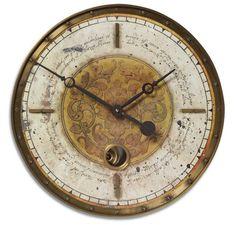 18 Inch Leonardo Script Cream Wall Clock buy at Lights in the Northern Sky. www.lightsinthenorthernsky.com