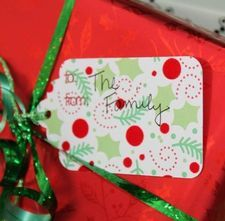 LDS Living - Weekend Craft: Fuss Free Gift Tags