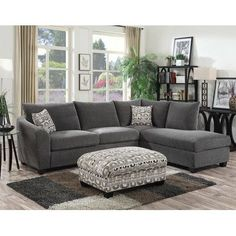 Latitude Run Collinsville Chaise  Sectional Upholstery: