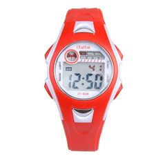 Watch,POTO 2017 New Waterproof Children Boys Girls Swimming Sports Digital Wrist Watch Luminous Alarm (red) Boys Watches, Sport Watches, Children's Watches, Luxury Watches, Swimming Sport, Girls Swimming, Sport Fashion, New Fashion, Kids Fashion