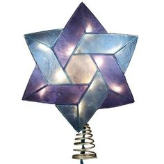 Kurt Adler 10-Light Star of David Capiz Colored Christmas Treetop, 8.5-Inch Kurt Adler http://www.amazon.com/dp/B00CAJG86Y/ref=cm_sw_r_pi_dp_aWmFub1PBNRVY Great for Blended families who are blending Like mine