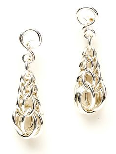 Sensuous Simplicity - by Julia Lowther Create elegant, Persian-linked chain earrings with hand-forged earring frames. Downloadable tutorial.