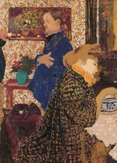 "New artwork for sale! - "" Valloton And Misia In The Dining Room At Rue Saint Florentin 1899 Poster by Vuillard Edouard "" - https://ift.tt/2ku7U5u"