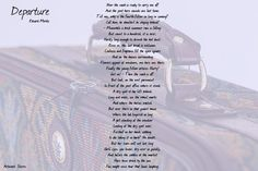 Read the English translation of the #poem Depature by Eduard Mörike.  Departure - Eduard Mörike  Now the coach is ready to carry me off  And the post horn sounds one last time.  Tell me why is the fourth fellow so long in coming?  Call him he shouldnt be staying behind!  Meanwhile a brisk summer rain is falling;  But count to a hundred it is over  Hardly long enough to drench the hot dust;  Even so this last break is welcome.  Coolness and fragrance fill the open square  And on the houses…