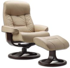 ergomonic recliners | Fjords 215 Muldal Ergonomic Recliner Chair and Ottoman Scandinavian ...