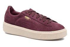 Wns Suede Platform Speckle Bordeaux Puma Suede, Baskets, Puma Platform, Stan Smith, Sneakers, Bordeaux, Air Max, Fitness, Adidas