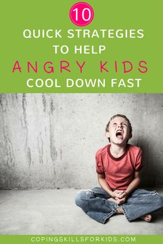 "Inside: 10+ Strategies you can use today to help an angry child cool down  and diffuse anger quickly.   Your son and daughter have been playing together while you get dinner  ready.  Your daughter says joyfully ""Connect 4!"" as she wins the 3rd game in a row.  And then it begins. Your son grow"