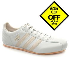 Adidas 14 These retro football boot styled trainers are inspired by styles worn by some of the most famous players to have played the game. It has a leather upper with a heavily stitched section around the rear http://www.comparestoreprices.co.uk/mens-shoes/adidas-14.asp