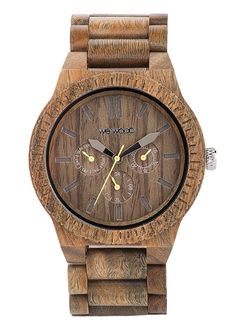 Kappa Army Wood Chrono Watch, Olive by WeWood Watches at Neiman Marcus. Rose Gold Jewelry, Pearl Jewelry, Hairband, Bubble, Accessoires Photo, Diy Jewelry Necklace, Jewellery, Wood Store, Army Watches