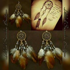 Feather earrings. Made by Delilah Sieraden Boutique. Available at https://www.oorbellenboutique.nl #earrings #feathers #featherearrings #handmade #madewithlove #delilahsieraden #dreamcatcher #jewelry #musthave #bohochicstyle #gypsysouls #sieraden #beautiful #gypsy #native #nativeamerica