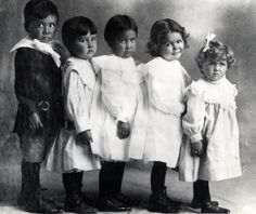 Children at Fort Sill, Oklahoma.