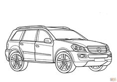 Mercedes Gl Class coloring page from Mercedes category. Select from 31983 printable crafts of cartoons, nature, animals, Bible and many more. Sports Coloring Pages, Alphabet Coloring Pages, Cartoon Coloring Pages, Disney Coloring Pages, Mandala Coloring Pages, Free Printable Coloring Pages, Coloring Pages For Kids, Coloring Sheets, Coloring Books