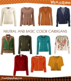 Wardrobe Essential: Neutral and basic color cardigans for Warm Autumn women by 30somethingurbangirl.com