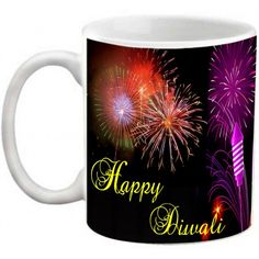 COFFEE MUG - HAPPY DIWALI FIREWORKS PRINTED