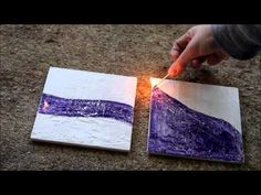 Shellac Burn Encaustic Paintings with India Ink and Calligraphy - The Far Pavilion