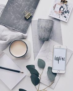 Shades of grey flatlay Fall Inspiration, Flat Lay Inspiration, Do It Yourself Inspiration, Layout Inspiration, Flat Lay Photography, Photography Tips, Breakfast Photography, Coffee Photography, Photo Pour Instagram
