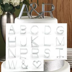 Modern Initial/Personalized Cake toppers Empire/mini by gaugenyc