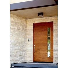 The Katti style is a modern pivot door. This semi-custom wood pivot door is built with steel reinforced core, foam insulation and inch hardwood covering. Contemporary Front Doors, Modern Front Door, House Front Door, House Doors, Main Entrance Door Design, Front Door Design, Entrance Doors, Modern Entrance Door, Garage Doors