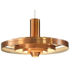 A copper Fibonacci pendant lamp, designed in 1963 by Sophus Frandsen for Fog & Morup, Denmark | From a unique collection of antique and modern chandeliers and pendants  at http://www.1stdibs.com/furniture/lighting/chandeliers-pendant-lights/