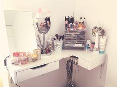 #schminktisch #Makeup #Organizer #IKEA #diy #idea #inspo #makeupstudio