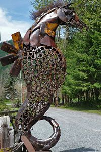 Ex-Nihilo Sculpture Park Near Mt. Rainier National Park, Washington This is wonderful, beautiful and amazingly creative.