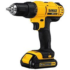DEWALT Max Cordless Drill (Charger Included) at Lowe's. The 20 V MAX lithium ion compact drill/driver kit is lightweight and compact for working in tight spaces for long periods of time. Cordless Drill Reviews, Cordless Tools, Wood Turning Lathe, Wood Turning Projects, Pallet Projects, Home Depot, Dewalt Power Tools, Used Woodworking Tools, Diy Tools