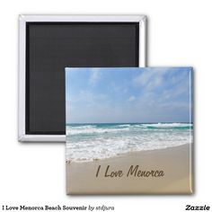 Shop I Love Menorca Beach Souvenir Magnet created by stdjura. Personalize it with photos & text or purchase as is! Menorca Beaches, Beach Souvenirs, Round Magnets, Paper Cover, Recycling, Cool Stuff, My Love, Frame, Prints