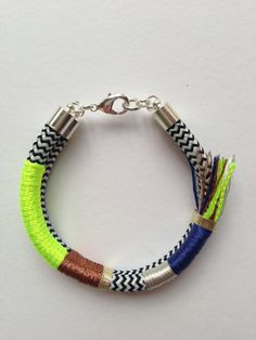 If She Knew What She Wants bracelet neon yellow on Etsy, $39.00 AUD