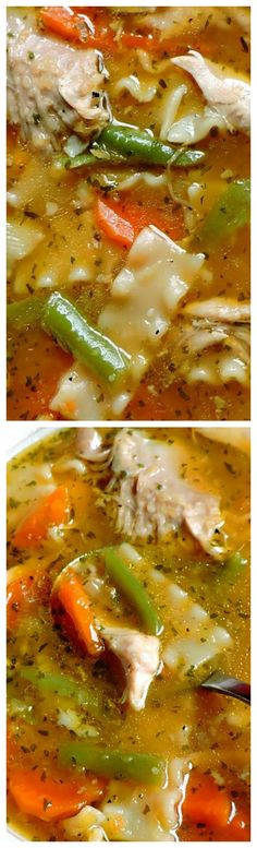 I have been making my own chicken stock for as long as I can remember. Whenever we have the bones left from a roasted chicken I . Chowder Recipes, Soup Recipes, Chicken Recipes, Cooking Recipes, Crockpot Recipes, Chicken Noodle Soup, Noodle Soups, Crockpot Chicken Healthy, Soup And Salad