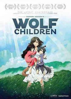 Directed by Mamoru Hosoda. With Aoi Miyazaki, Takao Ohsawa, Haru Kuroki, Yukito Nishii. Hana falls in love with a Wolf Man. After the Wolf Man's death, Hana decides to move to a rural town to continue raising her two wolf children Ame and Yuki. Film Manga, Film Anime, Art Anime, Manga Anime, Anime Wolf, Anime Titles, Anime Dvd, Children's Films, Films Cinema